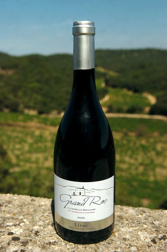 bouteille vin rouge grand roc